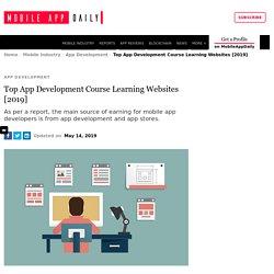 Top App Development Course Learning Websites [2019]