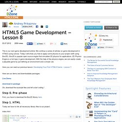 HTML5 Game Development – Lesson 8