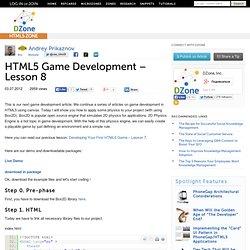 HTML5 Game Development – Lesson 8