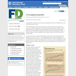 Finance & Development, December 2010 - Leveraging Inequality