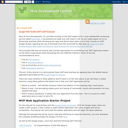 Hive Development Limited: Google Web Toolkit (GWT) MVP Example
