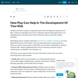 How Play Can Help In The Development Of Your Kids - Activities For Toddlers In Childcare NSW