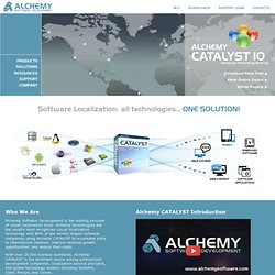 Software Localization, Localization Tools, .net Translation, i18n, Translation Memory - Alchemy Software Development