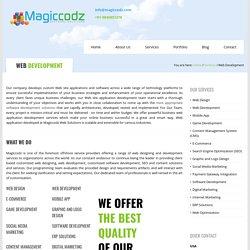 Web Development Company In Cochin, India - Magiccodz Web Solutions