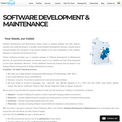 SOFTWARE DEVELOPMENT & MAINTENANCE -