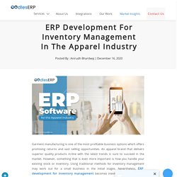 ERP Development For Inventory Management In The Apparel Industry