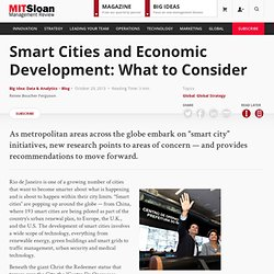 Smart Cities and Economic Development: What to Consider