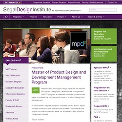 Master of Product Design and Development - Northwestern University