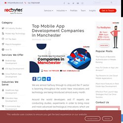 Top Mobile App Development Companies in Manchester