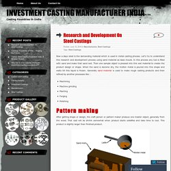 Research and Development On Steel Castings