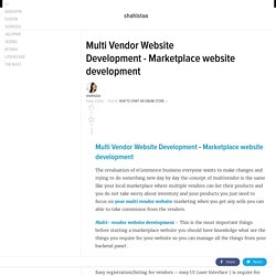 Multi Vendor Website Development - Marketplace website development