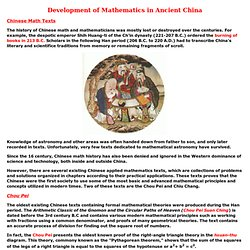 Development of Mathematics in Ancient China