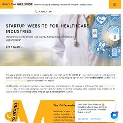 Startup Web Designing & Development for Healthcare Industries
