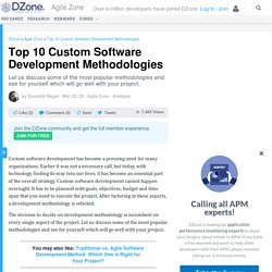 Top 10 Custom Software Development Methodologies