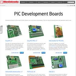PIC Development Boards - MikroElektronika
