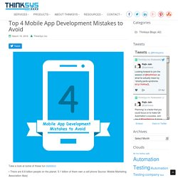 Mobile Apps Development Mistakes To Avoid