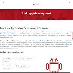Ionic Mobile App Development Company