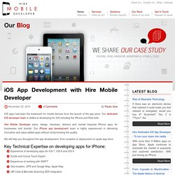 iOS App Development with Hire Mobile Developer
