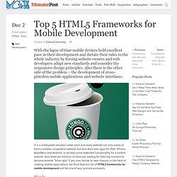 Top 5 HTML5 Frameworks for Mobile Development