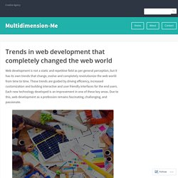 Trends in web development that completely changed the web world – Multidimension-Me