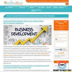 Business Development Specialist Hiring -Multilingual Company