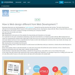 How is Web design different from Web Development ?: nadiaperez