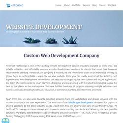 Website Development Services - NetDroidtech