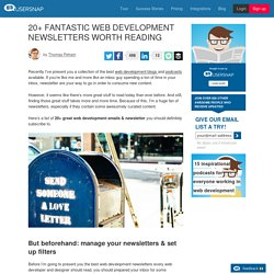 20 fantastic web development newsletters worth reading!