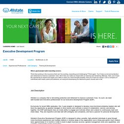 Executive Development Program - Northbrook, IL - Allstate Careers