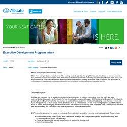 Executive Development Program Intern - Northbrook, IL - Allstate Careers
