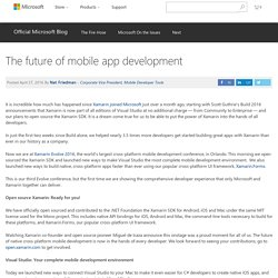 The future of mobile app development - The Official Microsoft Blog