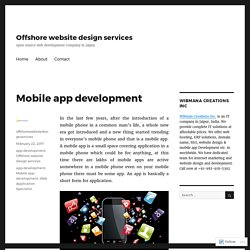Mobile app development – Offshore website design services