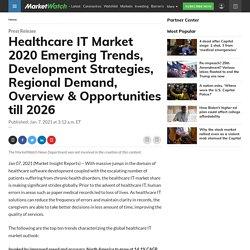 Healthcare IT Market 2020 Emerging Trends, Development Strategies, Regional Demand, Overview & Opportunities till 2026
