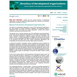 Directory of Development Organizations