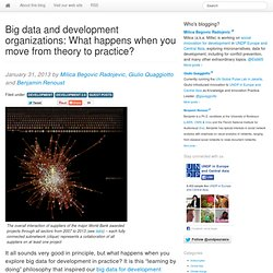 Big data and development organizations: What happens when you move from theory to practice?