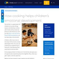 How cooking helps children's emotional development