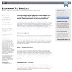 Salesforce CRM Development Company - Custom Salesforce CRM Development Services