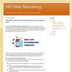 HN Web Marketing: Why Mobile App Development Outsourcing is an Effective Idea?