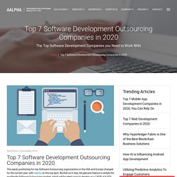 Top 7 Software Development Outsourcing Companies in 2020