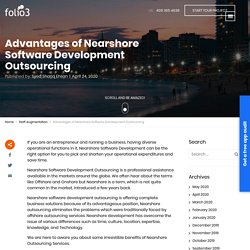 Advantages of Nearshore Software Development Outsourcing