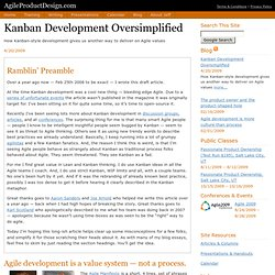Kanban development oversimplified: a simple explanation of how Kanban adds to the ever-growing Agile toolkit