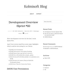 Development Overview (Sprint #111) - Kolmisoft Blog