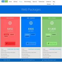 Web Design & Development Pricing & Packages - EZ Marketing Tech
