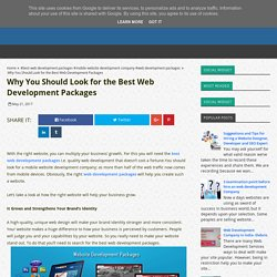 Why You Should Look for the Best Web Development Packages - Best Web Development