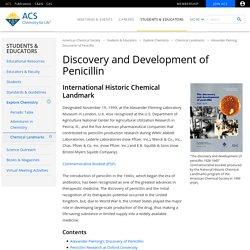 Alexander Fleming Discovery and Development of Penicillin - Landmark