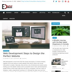 Web Development Steps to Design the Perfect Website - Edigital Blog