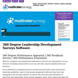 360 Degree Leadership Development, Performance Appraisal, Feedback Surveys