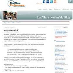 Leadership and EQ - RealTime Leadership
