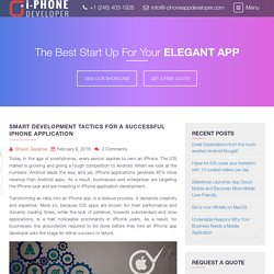 Smart Development Tactics for a Successful iPhone Application - I-PhoneAppDeveloper