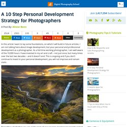 A 10 Step Personal Development Strategy for Photographers